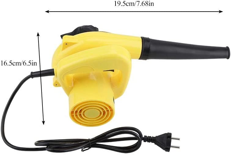 Aspirador eléctrico de Aire 600W Soplador de Hojas para Limpieza Soplador de Polvo: Amazon.es: Hogar