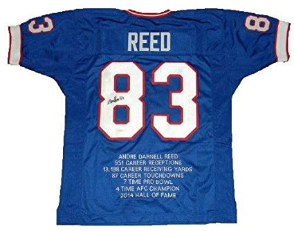 a4011ec3 Andre Reed Signed Jersey - #83 Stat - JSA Certified - Autographed ...
