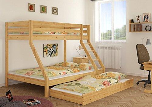 Etagenbett Für Erwachsene 90x200 Metall : Erst holz® 140x200 doppel etagenbett und 90x200