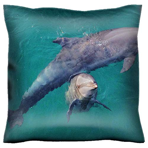 MSD Handmade 30x30 Throw Pillow case Polyester Satin Pillowcase Decorative Soft Pillow Covers Protector Sofa Bed Couch Image 20607273 Cute Dolphins at Ocean Adventure subic Freeport Zone Philippines
