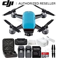 DJI Spark Portable Mini Drone Quadcopter + DJI Goggles Virtual Reality VR FPV POV Experience Essential Bundle (Sky Blue)