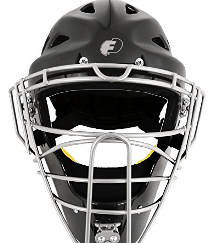 Force3 Pro Gear Defender Hockey Style Mask (Black/Silver, Youth)