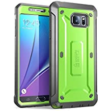 SUPCASE Samsung Galaxy Note 5 Case Unicorn Beetle PRO Series Full-body Rugged with Built-in Screen Protector - Green/Gray