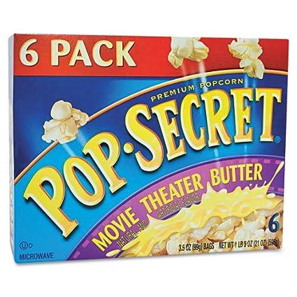 Microondas palomitas, Cine mantequilla, 3.5oz bolsas, 6/caja por ...