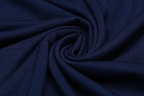 HOTOUCH - Vestido - manga 3/4 - para mujer Typ1_Navy Blau