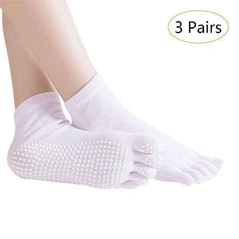 SONSYON Mujer Calcetines de Cinco Dedos Yoga - 3 Pares ...