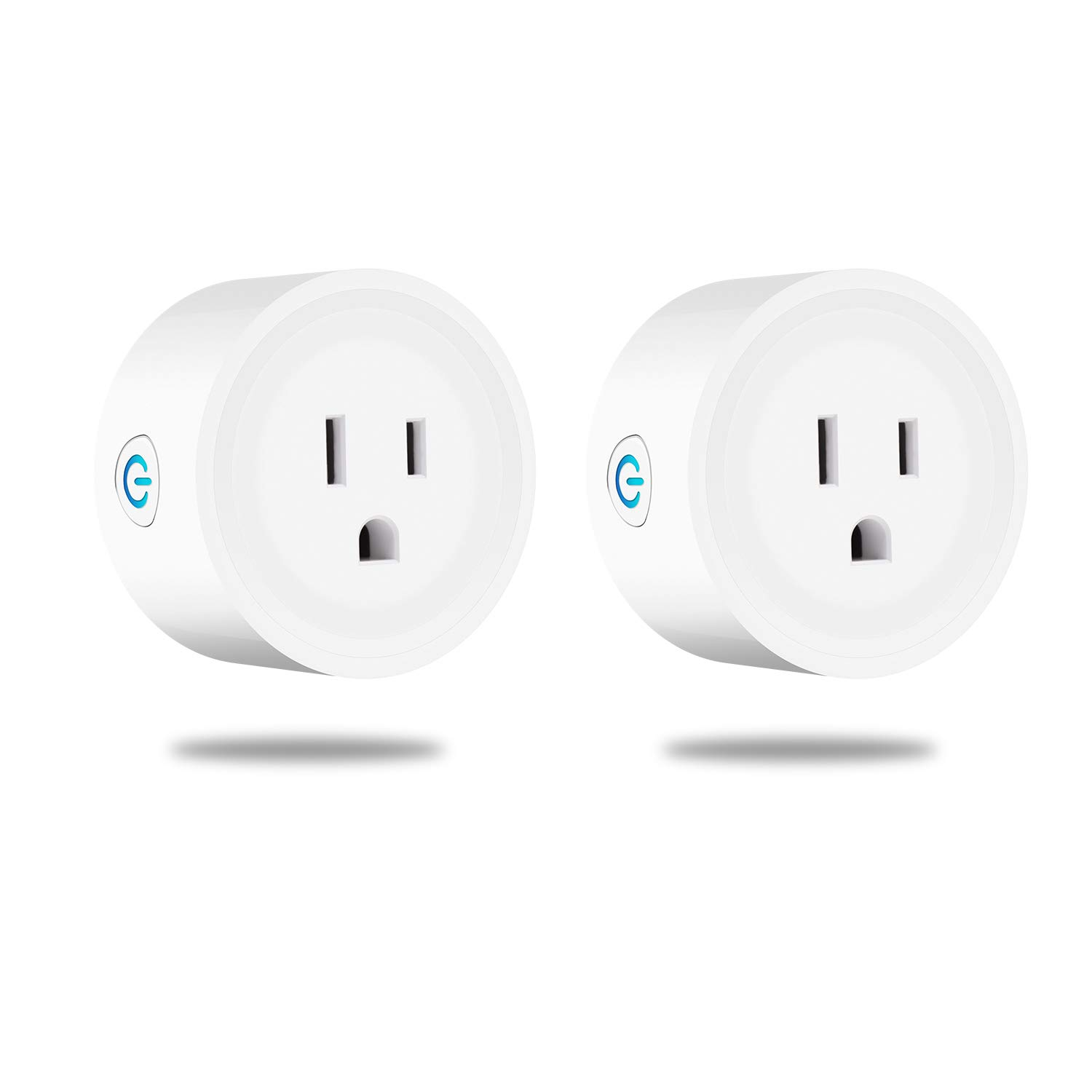 Wifi Smart Plug Mini Wifi Plug Outlet Timer Works with Alexa Echo Google Home and IFTTT, No Hub Required Alexa Smart Socket for Voice Remote Control your Home Assistant - 2 Pack