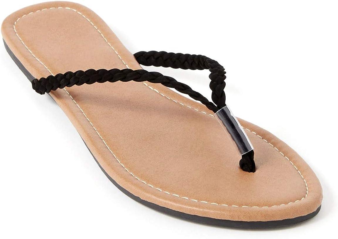 Beach Travelling Mens Flip-Flop Sports Sandals Lightweight Wood Grain Braid Belt,Washable,For Summer Walking