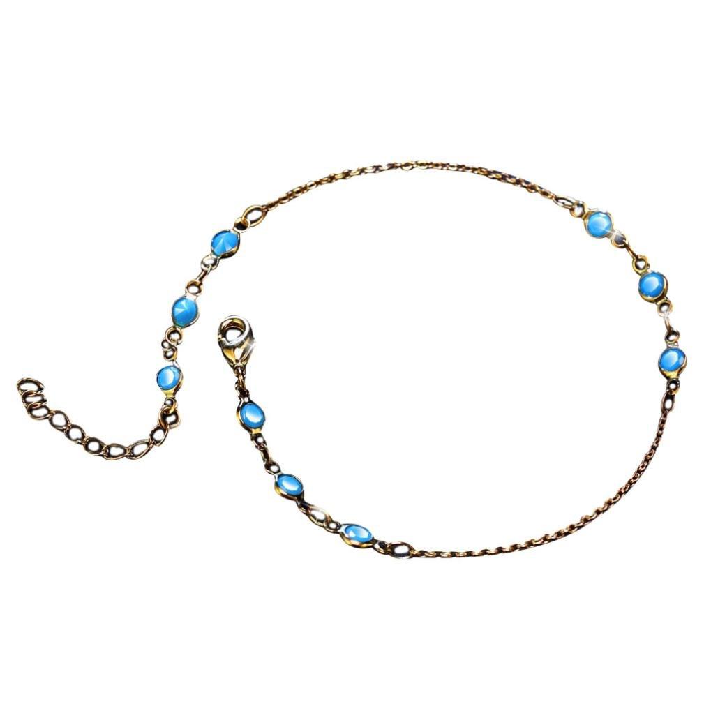 YJYdada Anklet Bracelet Heart Anklet Ankle Bracelet Beach Foot Jewelry (J)