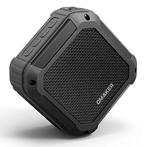 Waterproof Bluetooth Speakers, Outdoor Portable Wireless Speakers with EQ Modes and TWS, Bluetooth 4.1 with 5W Audio Driver for Outdoor, Beach, Shower & Home (Omaker Nature, M4 Upgraded version)
