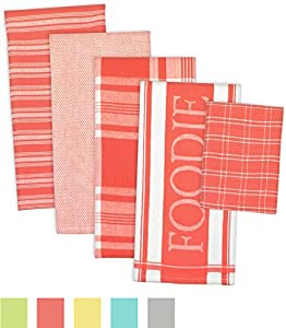 DII 5-Piece Everyday Kitchen Basic Dishtowel Set