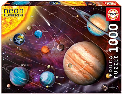 Solar System Cardboard Jigsaw (Educa Solar System 14461 Neon Series Jigsaw Puzzle (1000 Piece), One Color)