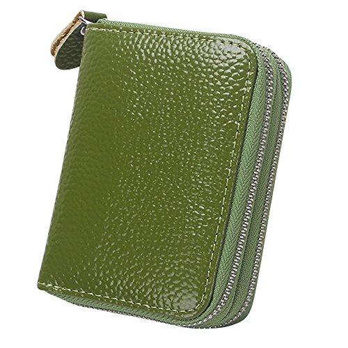Zipper Card Cckuu Pocket Blue Green Money Leather Soft Multi Deep Organizer Case Womens Wallet AznBqzrI