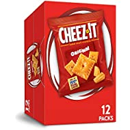 Cheez-It Original Cheese Crackers - School Lunch Food, Baked Snack, Single Serve, 1 oz Bags (Pack of 12)