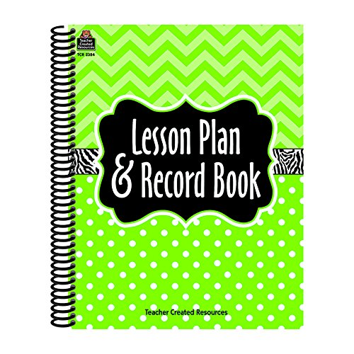 TEACHER CREATED RESOURCES LIME CHEVRONS AND DOTS LESSON PLAN (Set of 6)