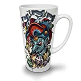 Clown Dice Poker Horror White Ceramic Latte Mug 17 | Wellcoda