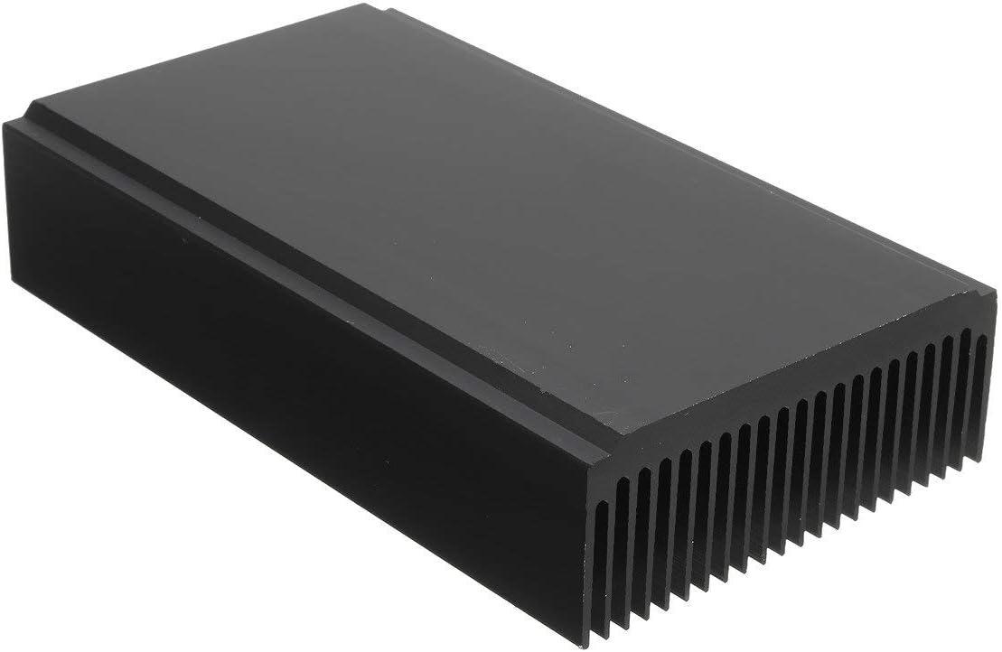 22 Tooth Black Oxide Aluminum Heat Sink Module Heat Radiation 120 x 69 x 27mm