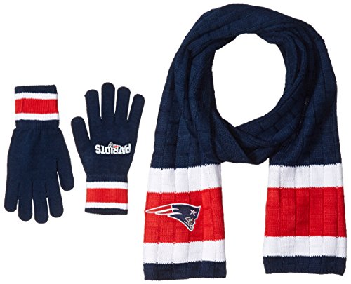27ce2b0f NFL New England Patriots Scarf & Glove Gift Set - Import It All
