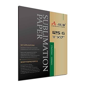 Amazon.com: A-Sub - Papel de sublimación para Epson o ...