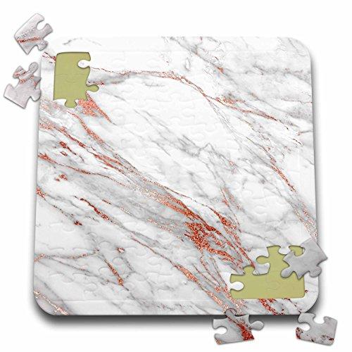 Boheme Jewels (Uta Naumann Luxury Gemstone Marble Background - Copper Metal Foil and Ombre Gemstone Grey Marble - 10x10 Inch Puzzle (pzl_265473_2))
