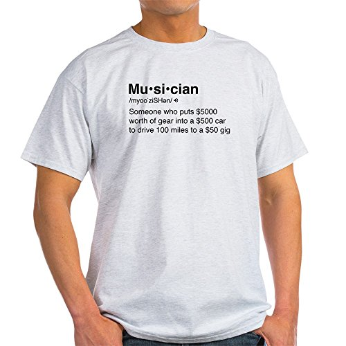 CafePress Musician Definition - 100% Cotton - Band Personalized Gift T-shirt