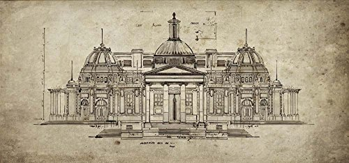 Exercise in Architechure Sidney Paul Co. Art Print, 17 x 8 inches