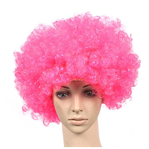 PANDA SUPERSTORE Set of 2 Halloween Costume Party Wigs Clown Hair, Pink ()
