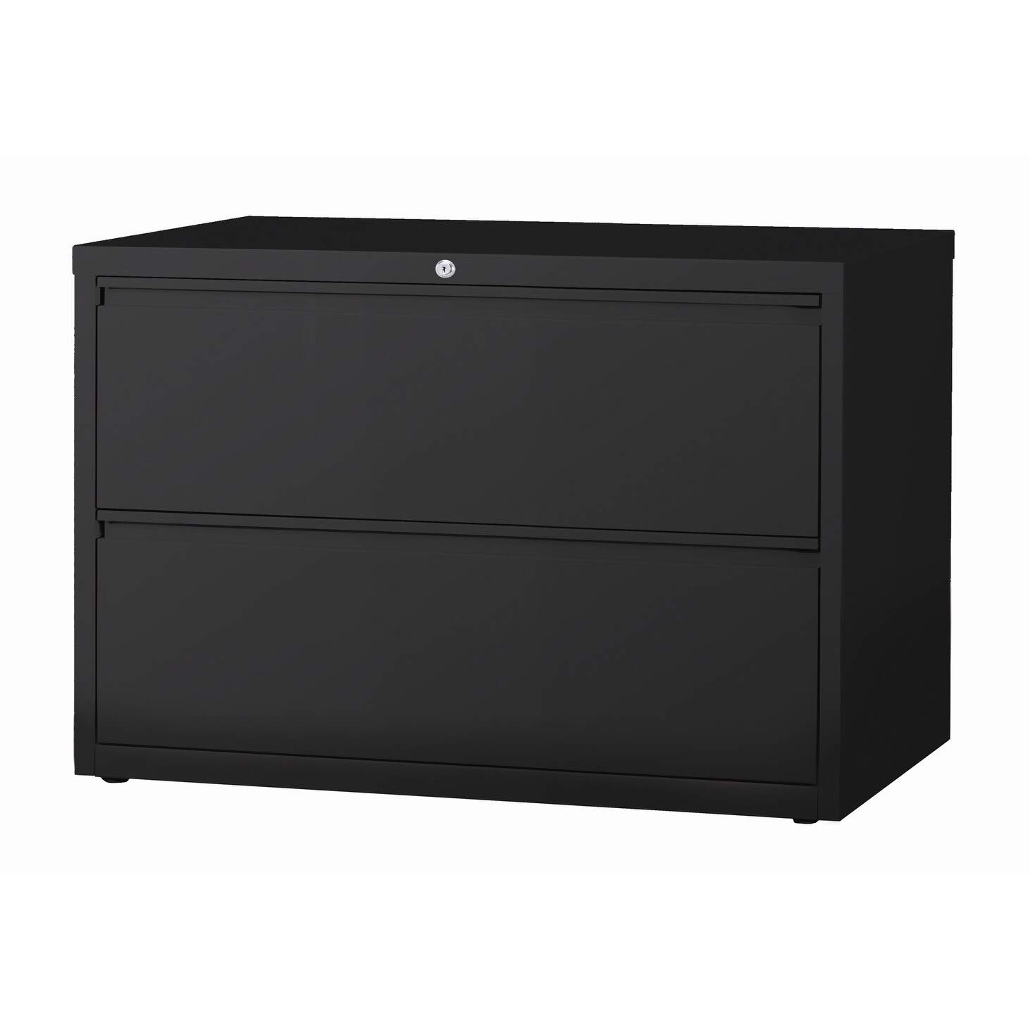 Hirsh HL8000 Series 42'' 2 Drawer Lateral File Cabinet in Black by Hirsh Industries