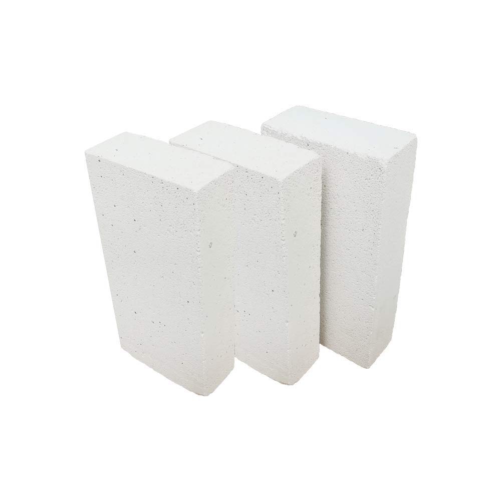 Forges HFK-25 Insulating FireBrick 2500F 2 x 4.5 x 9 IFB Box of 8 Fire Bricks for Fireplaces Pizza Ovens Kilns