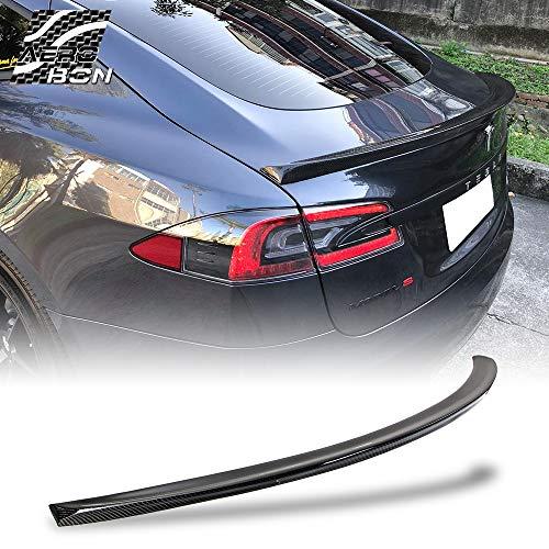 AeroBon Real Carbon Fiber Rear Trunk Spoiler for 12-19 Tesla Model S Style