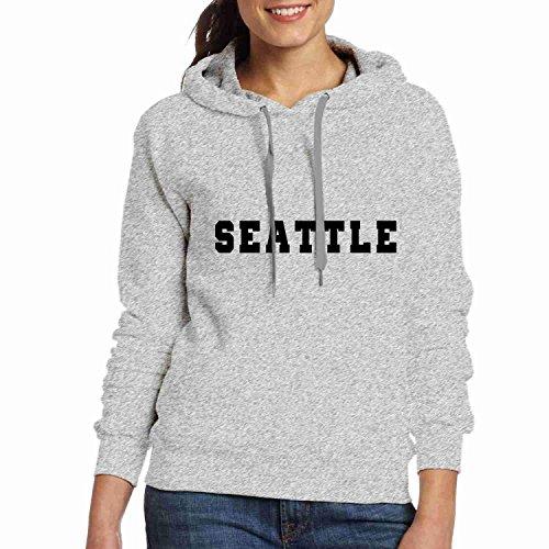 Stephanie Ralph Des Femmes De Hoodies Des Femmes Des T-shirts Personnalisés Sweat Sweatshirts Mélange Graphique Personnalisé Collège Pull-over Gris Seattle