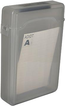 Disco Duro SATA IDE HDD Caja Estuche Protector De Plástico Contenedor De Almacenaje Gris: Amazon.es: Electrónica