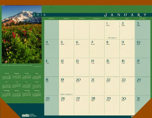 House of Doolittle Landscapes Desk Pad Calendar 12 Months January 2015 to December 2015, 22 x 17 Inches, Cream Paper, Color Photos, Recycled (HOD168)