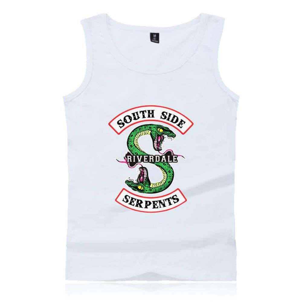 Desshok Gilet Uomo Riverdale-South Side Serpants Stampa T-Shirt Senza Maniche Semplice
