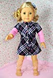 """** RUBY ROSE ** Stylish Plaid Weave Dress with Pink Tee & Hairpin ~ Fits 18"""" American Girl Dolls"""