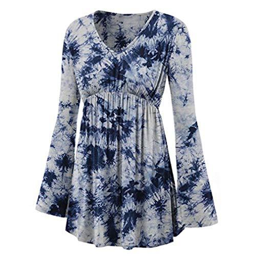 Line T Donna Forti 5XL Maniche Camicie Top A Fasciatura Senza Lunghe Taglie Camicie Stampate Hibote Pagoda Spalline S Beige Camicette Autunno Shirt Gotiche 5qOwFat