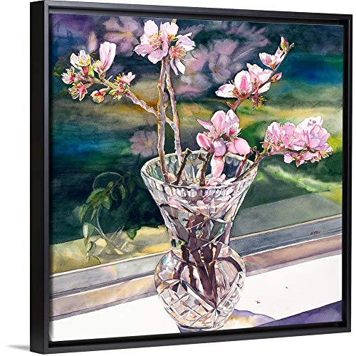 (Judy Koenig Floating Frame Premium Canvas with Black Frame Wall Art Print Entitled Thank You Vincent 12