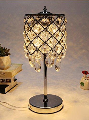 Surpars House Chrome Finish Silver Crystal Table Lamp (Silver Table Lamp With Crystals)