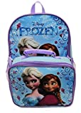 Disney Frozen Anna Elsa Classic Girls Backpack with Detachable Lunch Kit 15'