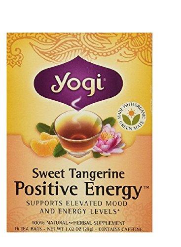 - Yogi Tea,16 Tea Bags (Sweet Tangerine Positive Energy, 1 Pack)
