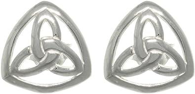 Sterling Silver 6mm Celtic Trinity Knot Post Stud Earrings.