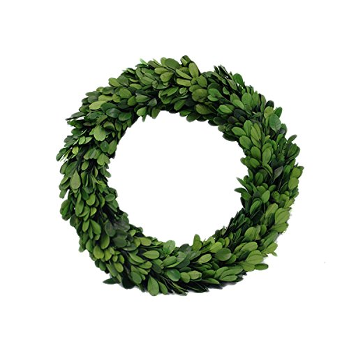 Cheap  D.Jacware Preserved Boxwood Wreath Indoor Wreath Round Preserved Garden Boxwood Wreath 10..