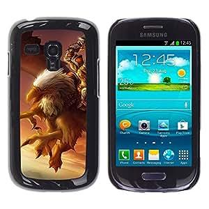 Samsung Galaxy S3 MINI i8190 (NOT S3) , JackGot - Colorful peau Imprimé protection dur Retour Housse Shell (Aigle Jeu Pc Gamer Mystère Oiseau géant)