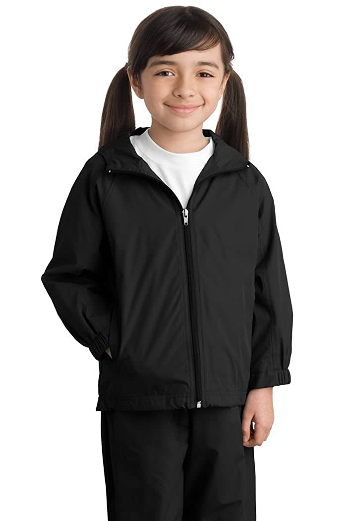 Sport-Tek YST73 Youth Hooded Raglan Jacket