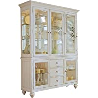 Bowery Hill China Cabinet in Distressed Buttermilk