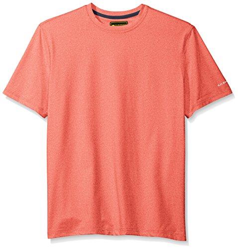 G.H. Bass & Co. Men's Explorer Performance Melange Jersey Short Sleeve Tee, High Risk Red, - D&g Top