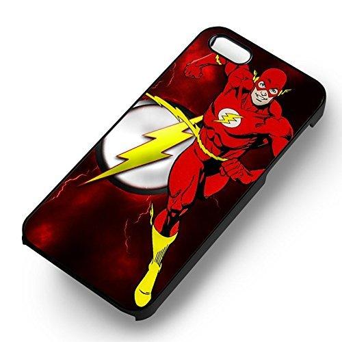 The Flash Comic pour Coque Iphone 6 et Coque Iphone 6s Case (Noir Boîtier en plastique dur) E4Q6BH