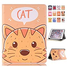 New iPad 9.7 2018 Case,Businda Ultra Slim Lightweight CAS Auto Wake/Sleep Flip Folio Stand Smart Cover for iPad 9.7 inch 2017/2018 New iPad 9.7 inch/iPad Air/iPad Air 2,Cute Cat
