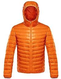 Gihuo Men's Packable Ultra Light Hooded Down Jacket Puffer Coat