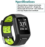 Feskio Soft Silicone Gel Replacement Watch Band Wristband Strap Sport Bracelet for Tomtom Runner 2/3/Spark 3/Adventurer/Golfer 2 Sports GPS Running ...